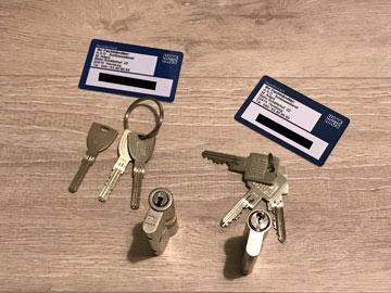 Sicherheitsschloss und Sicherheitskarte